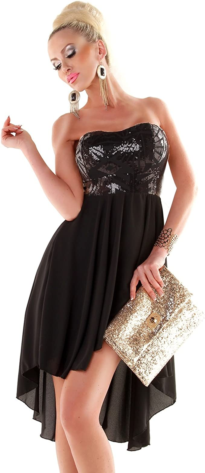Fashion - Vestido - para Mujer Negro-Mezcla Asiático S: Amazon.es