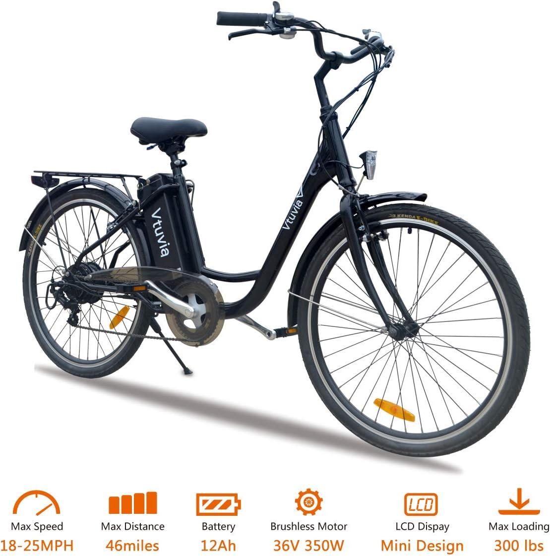 VTUVIA - Bicicleta eléctrica de 350 W con Motor de Larga duración ...