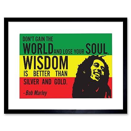 Amazon BOB Marley Rasta GAIN World Wisdom Soul Gold Quote Magnificent Rasta Wisdom Quotes