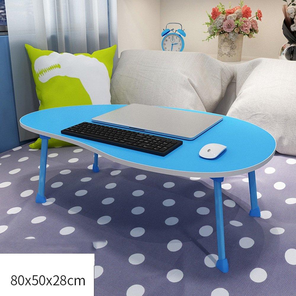 FEIFEI ポータブル折り畳みテーブルマンゴースタイリングデスクトップ、子供の読書台、ラップトップテーブル、ソファ朝食テーブル80 * 50 * 28CM ( 色 : 青 ) B07CG5VNJ3 青 青