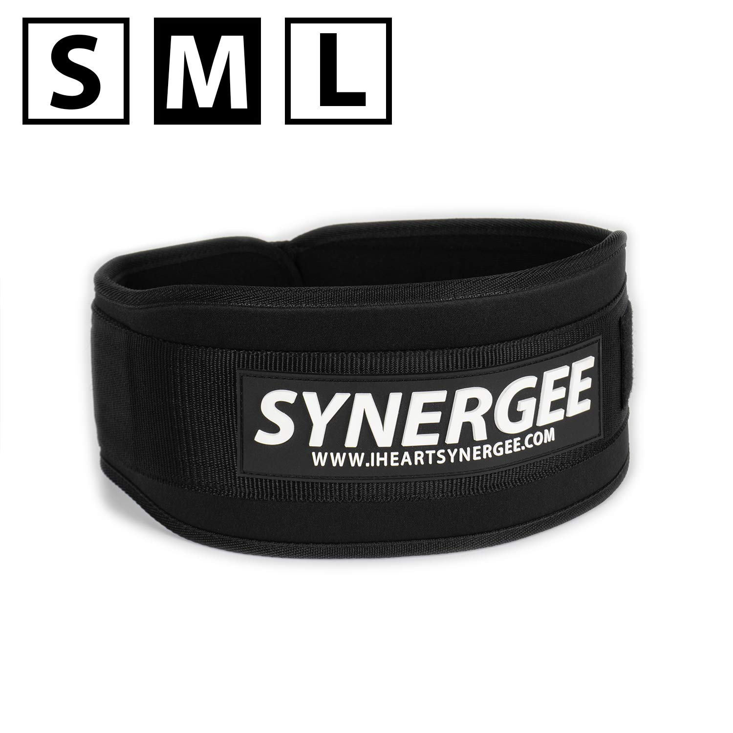 Synergee Weightlifting Belt, Olympic Lifting, Dynamic Workouts, Weight Belt for Men and Women, 5 inch, Back Support for Lifting - Medium