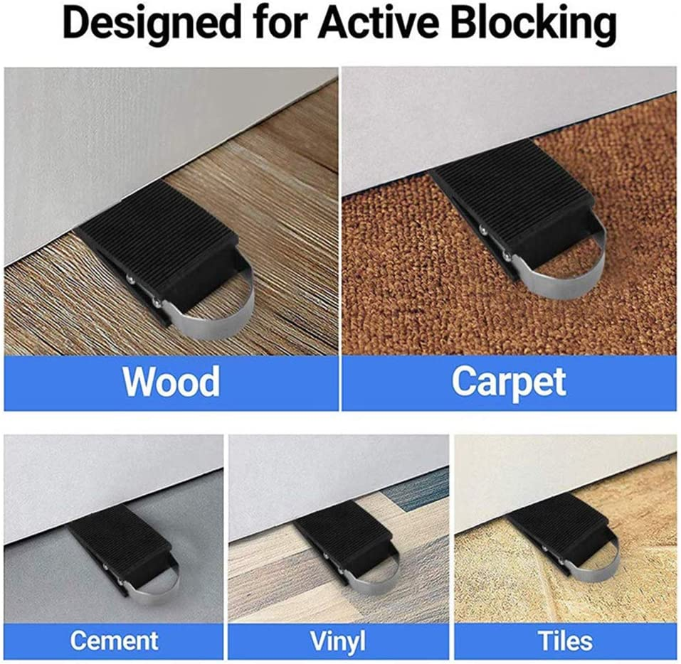 Control The Size of The Door Gaps and Great for Carpet YX-ZD Rubber Door Stop,Works on All Floor Surfaces 2 Pack Hardwood or Tile