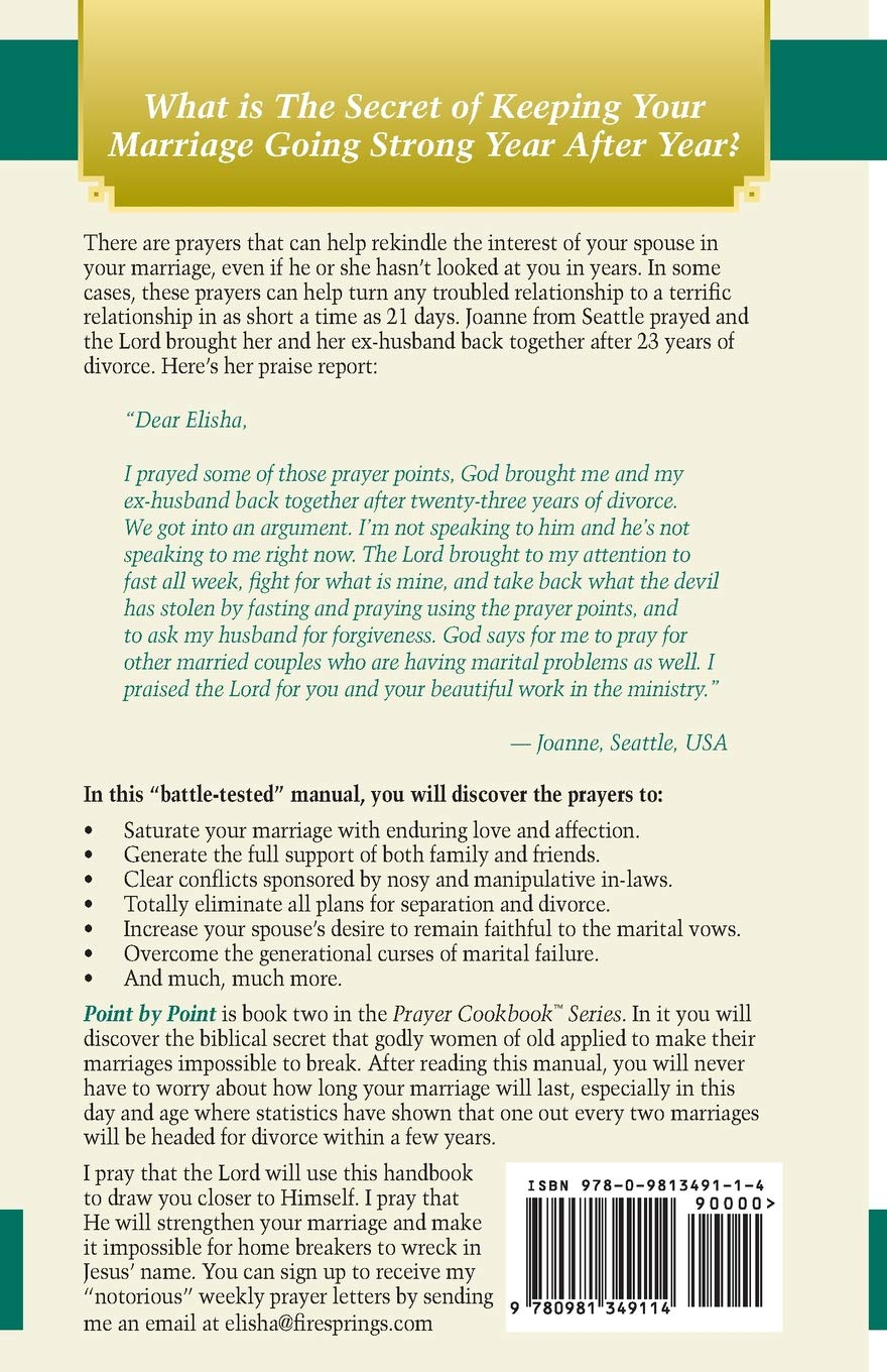Prayer Cookbook for Busy People (Book 2): Point By Point: Elisha
