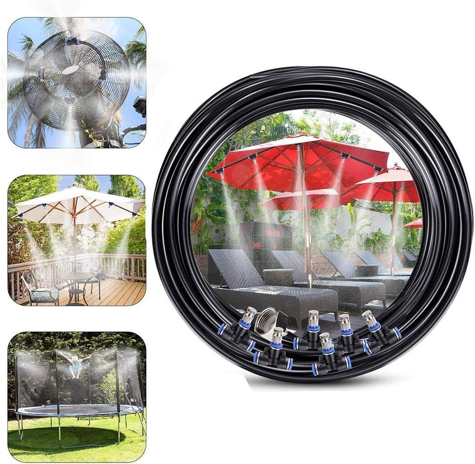 JUGUETE F Kit Nebulizadores Terrazas, Sistema Nebulizacion Exteriores Jardin Pergola, Difusor Agua Terraza (15M) Jardin DIY Enfriamiento Nebulizadores Niños Diversión Al Aire: Amazon.es: Deportes y aire libre