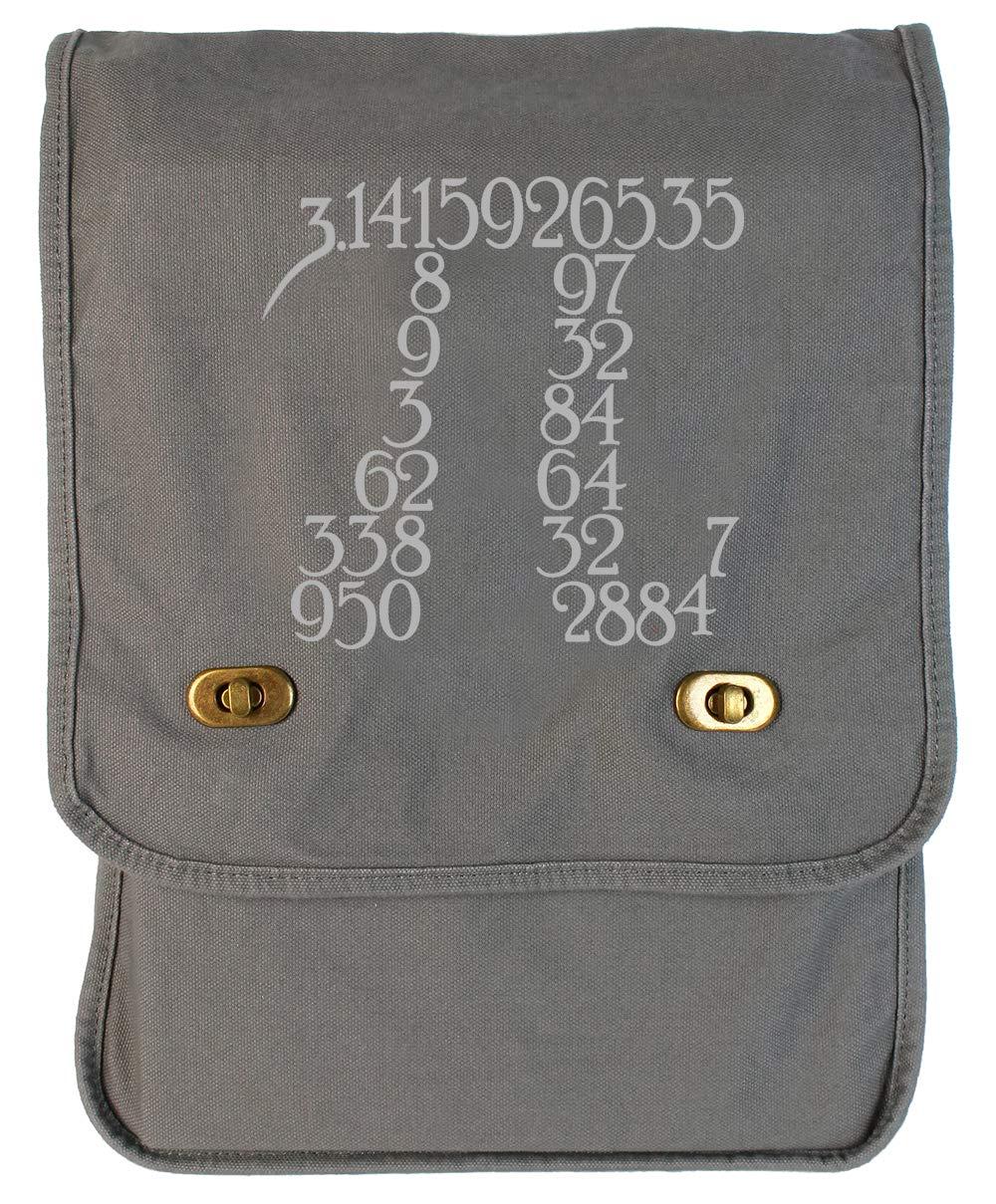Tenacitee Pi within Pi Flamingo Raw Edge Canvas Messenger Bag