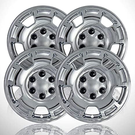 Amazon.com: 4-Pack of 17 Chrome Wheel Skins fit for 2007 ...