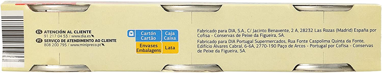 DIA atún en aceite de girasol pack de 3 latas 52 gr: Amazon.es: Alimentación y bebidas