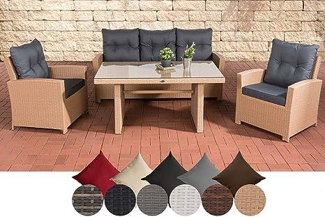 CLP Conjunto de muebles de jardín de ratán sintético fisolo ...