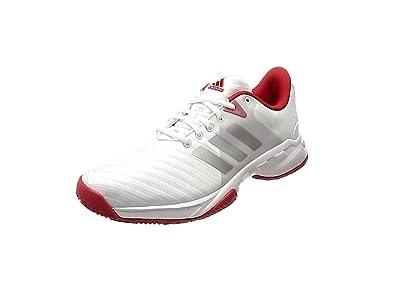 adidas Barricade 2018, Chaussures de Tennis Femme, Blanc (Ftwwht/Scarle), 36 2/3 EU