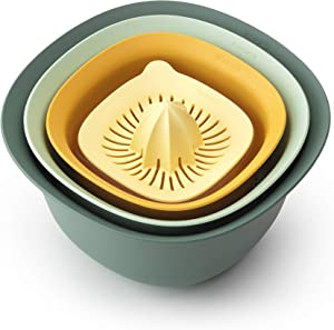Brabantia Tasty+ Bowl, colander and juicer set, 1.5L, Mixed colours