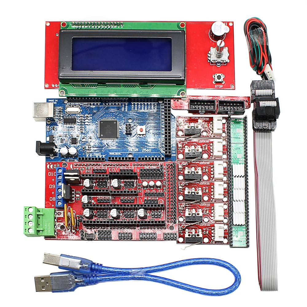 3d Printer Kit For Arduino Mega 2560 1.4 Controller Lcd 2004 + 6x Limit Switch Endstop