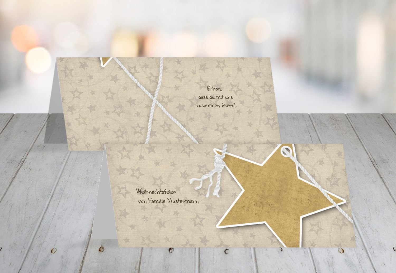 Kartenparadies Tischkarte Weihnachtstisch Tischkarte Sternenschnur, hochwertige Platzkarte für die die die Weihnachtsfeier (Format  100x44 mm) Farbe  MattGrün B01N5OTI2W   Reichhaltiges Design    Elegante und robuste Verpackung    Beliebte Empfehlung fb8347