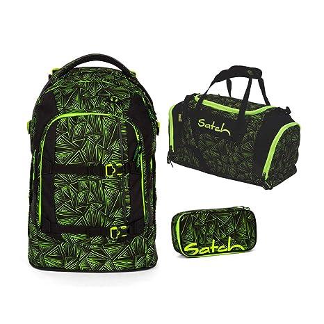 13d20643f4bb9 satch pack Green Bermuda 3er Set Schulrucksack
