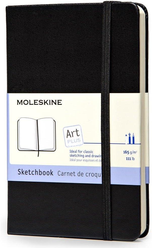 Schwarz Skizzenbuch Moleskine Pocket Fester Einband