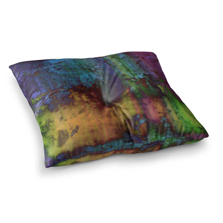 Kess InHouse Nina May Rainbow Saltwater Multicolor Painting 23 x 23 Square Floor Pillow
