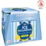 Ice Mountain Sparkling Water Lemon, 325ml, (Pack of 6)