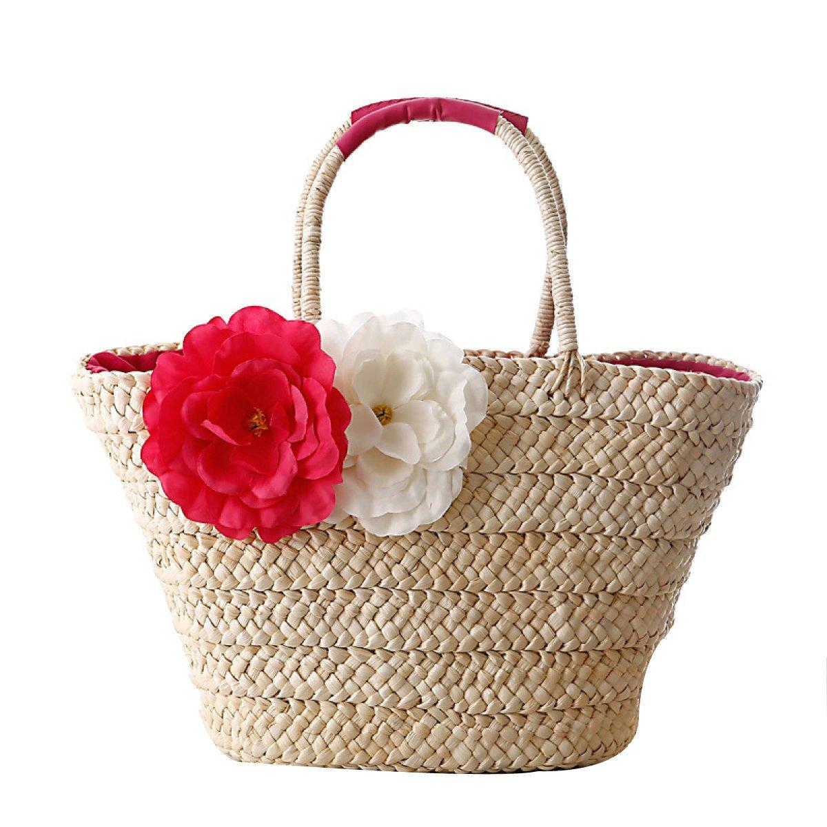 Lady Flowers Straw Simple...