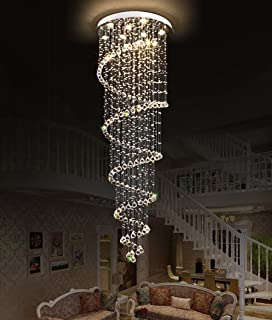 Lightinthebox chandelier luxury modern crystal bulb included 8 shijia spiral crystal chandelier modern ceiling light fixtures for foyer hallway d 236 x 87 aloadofball Image collections