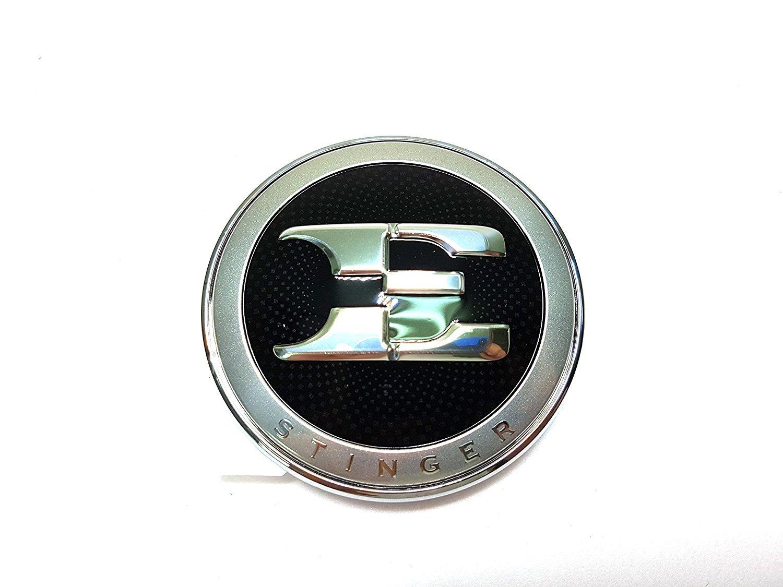 Kia E Logo Front Hood Emblem Stinger Lettering Emblem For 2017 2018 2019 Stinger 19inch Wheel Center Cap Cover 4EA