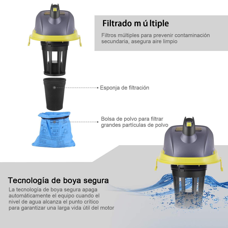 3 Boquillas Aspirador Seco-H/úmedo AUTLEAD 1000W 10L Aspiradora Hogar Coche para el Hogar WD01A y Bolsa de Filtro de Papel Aspiradora el/éctrica Silenciosa con Funci/ón de Soplado Potente Motor
