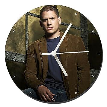 MasTazas Prison Break Wentworth Miller Reloj de Pared Wall Clock 20cm: Amazon.es: Hogar