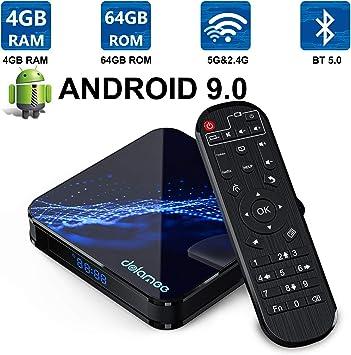 Android TV Box 9.0-Dolamee D22 4GB RAM + 64 GB ROM/4K Ultra HD/3D/2.4Ghz/5Ghz Dual WiFi/ Bluetooth 4.0/ USB 3.0 Mini Smart Media Player-2019: Amazon.es: Electrónica