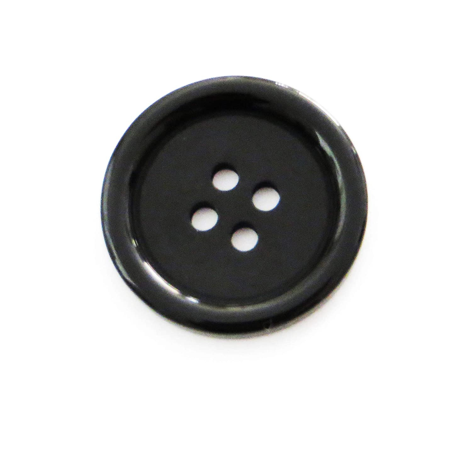 """Shirts Black Buttons 1 Inch White Black Clear Shorts 4 Hole 10 Pieces Cardigans Skirts Coats 1/"""" Sewing Crafts Replacement Button -Perfect for Crafts Blazers Pants"""