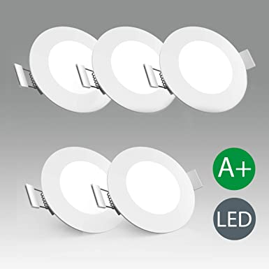 LED Einbauleuchte Ultra Flach Ø85mm Inkl. 5 X 5W 450LM LED Platine 3000K IP23 LED Einbaustrahler weiß