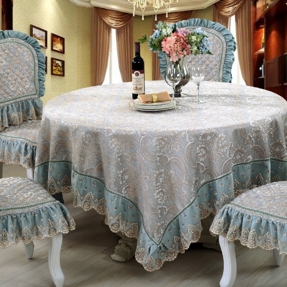 A Circle(150150cm) European antiOil tablecloth dining room romantic rural table linen table covers for home hotel cafe restaurantA Circle(150150cm)