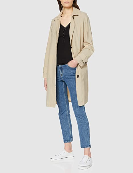 Tommy Hilfiger Womens Claudia Packable Crinkle Mac Trench Coat