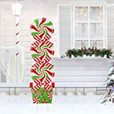 GoGreen Sprouter Candy Christmas Decorations Outdoor - Giant Holiday Decor Signs for Home Lawn Pathway Walkway Candyland Them