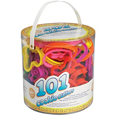 Wilton Cookie Cutters Set, 101-Piece Alphabet, Numbers and Holiday Cookie Cutters