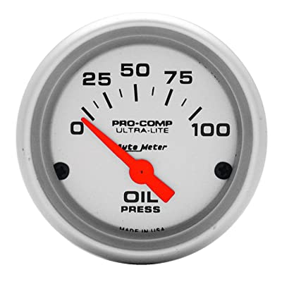 Auto Meter 4327 Ultra-Lite Electric Oil Pressure Gauge: Automotive