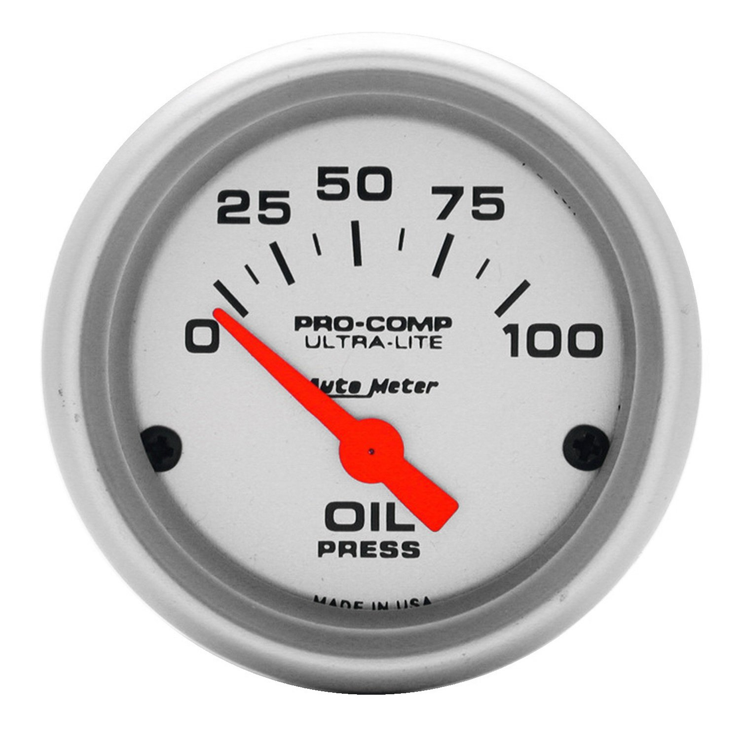 Auto Meter 4327 Ultra-Lite Electric Oil Pressure Gauge by Auto Meter