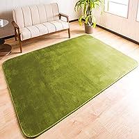 【舒适手感的法兰绒地毯】 185×185cm 约2榻榻米可洗 地毯 防滑 (兰绒185A)