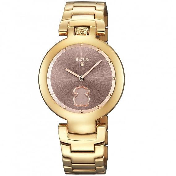 Reloj Tous modelo Crown de acero IP rosado