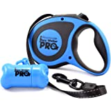 HappyDogz Easy Walker Pro Retractable Dog Leash with Improved Retracting Mechanism - Features a Bigger Ergonomic Handle with a Poop Bag Container Attachment and a Strong Nylon Reflective Tape