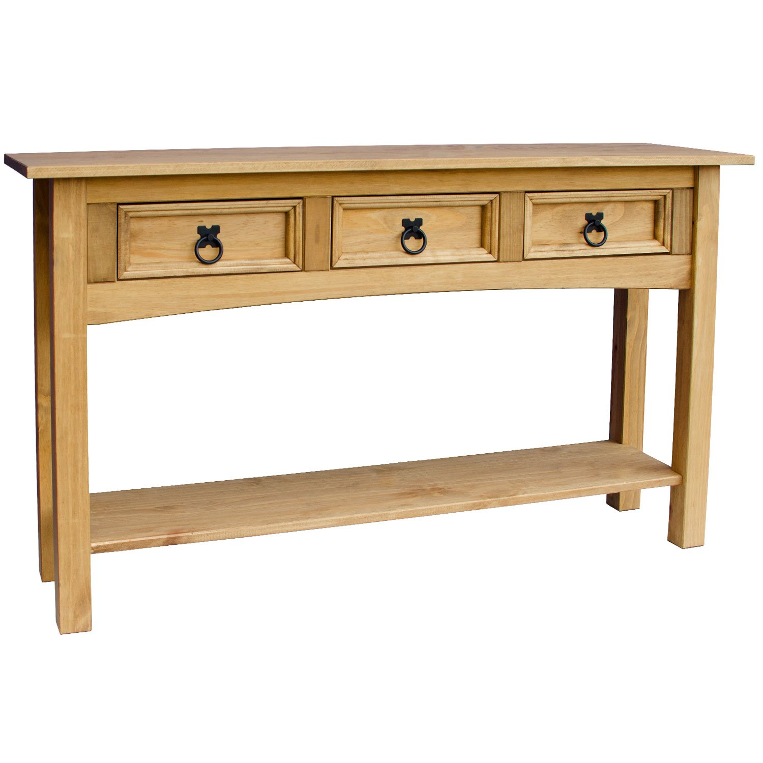home discount corona console table  drawer with  shelf solid  - home discount corona console table  drawer with  shelf solid pine woodamazoncouk kitchen  home