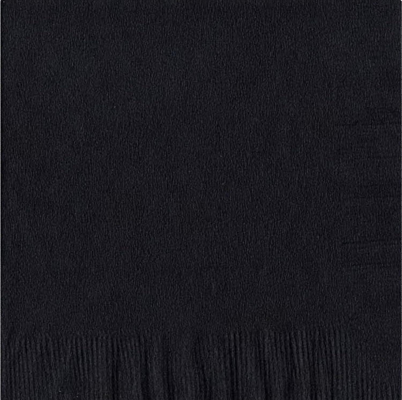 50プレーンソリッド色Luncheon Dinner Napkinsペーパー – ブラック B00827S7AI