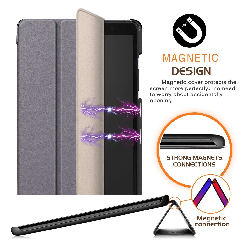 T290 T295 Version 2019,Rouge Xuanbeier Coque Ultra Mince Compatible avec Samsung Galaxy Tab A 8.0 SM Housse de Protection pour Galaxy Tab A