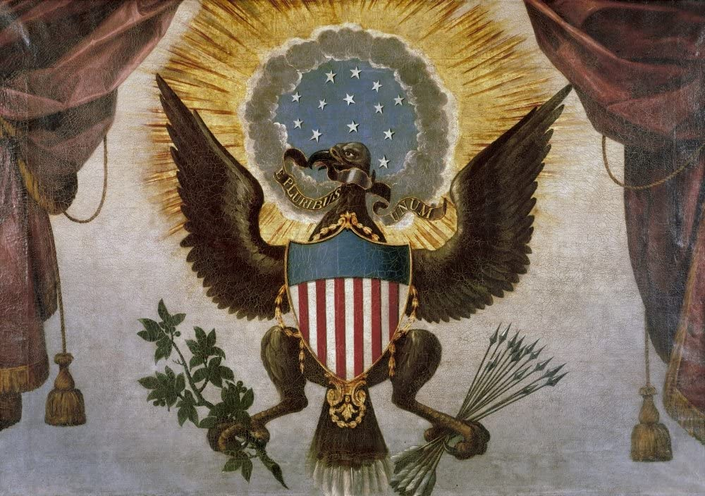 Amazon.com: America Great Seal Nthe Great Seal Of The United States Detail  Of An Oil Painting 1786 That Hangs Above George WashingtonS Pew At Saint  PaulS Chapel In New York City Poster