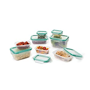 OXO Good Grips Smart Seal Leakproof Plastic Food Storage Container Set