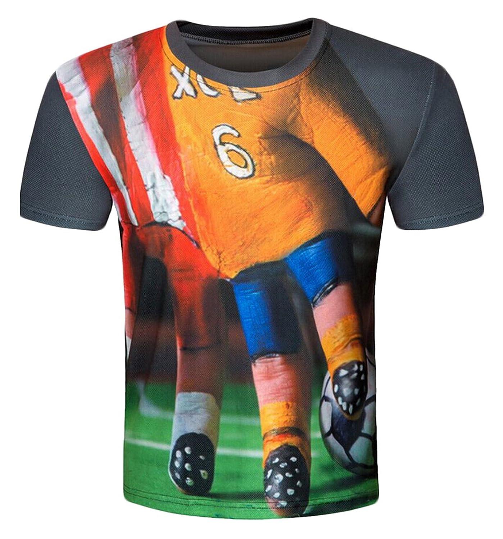 NQ Men's T-Shirt Short Sleeve Slim Fit Printing College Jacket