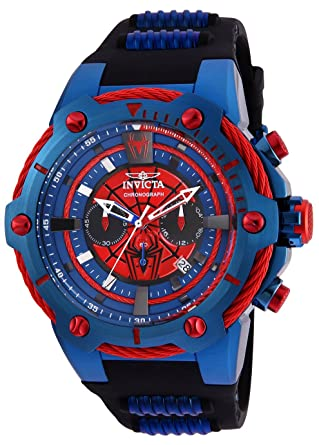 Invicta Mens 25688 Marvel Quartz Chronograph Red Dial Watch