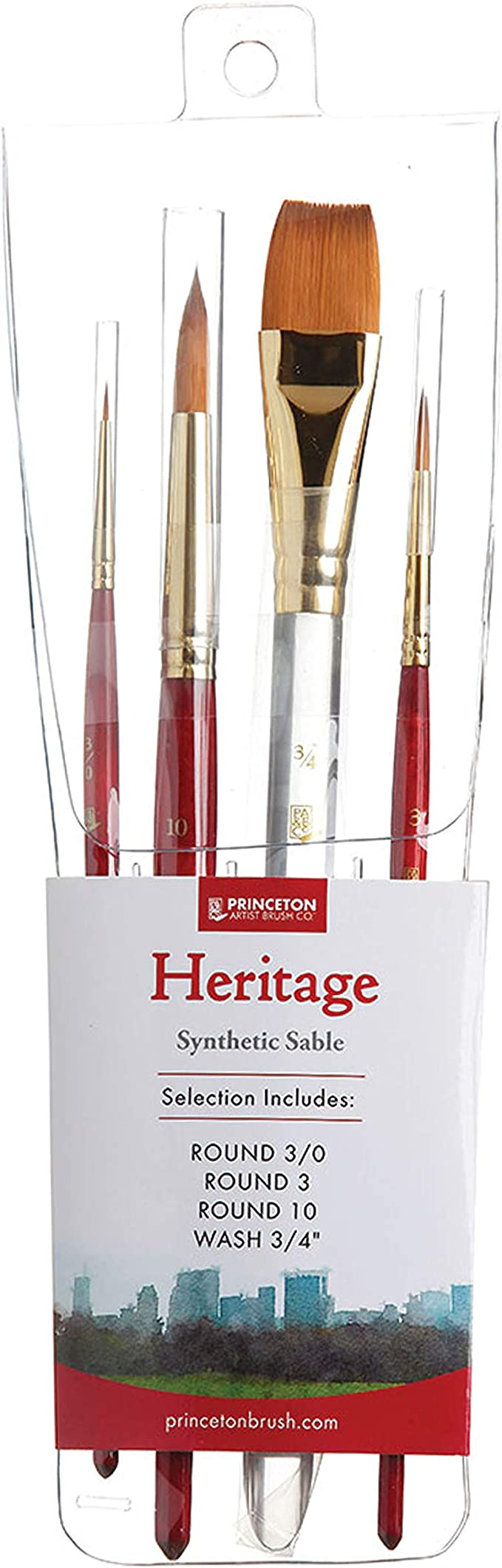 Choose Your Brush! Princeton Art /& Brush Co Heritage 4050 Wash Synthetic Sable