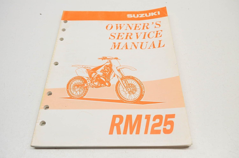 Amazon.com: Suzuki RM 125 Genuine Owners Service Manual Model W '96-'00:  Automotive