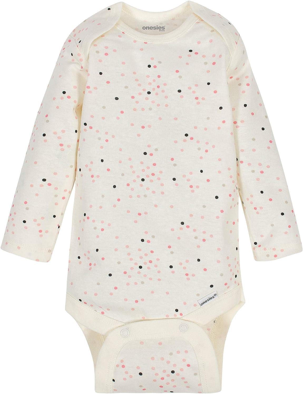 Onesies Brand Baby Girls 6-Pack Long Sleeve Bodysuits