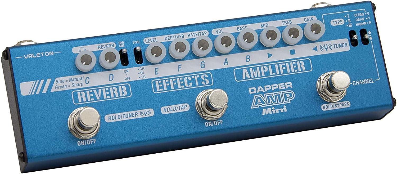 Valeton Dapper Amp Mini Modelado digital Preamplificador Amplificador Modelador Guitarra Pedal multiefectos con Chorus Delay Tremolo Reverb