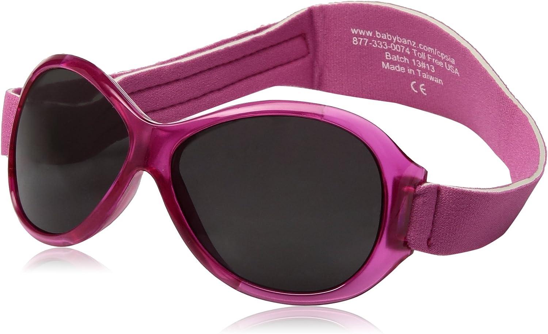 Baby Banz Little Girls'Retro Kidz Sunglass, Flamingo Pink, 2-5 Years