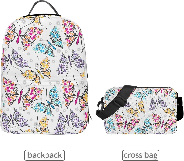 ALLMILL Seamless Cute Baby Giraffe Illustration Kids School Backpack